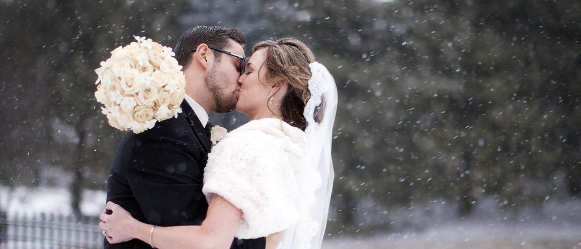 Snowflakes and Roses, a Winter Wedding Scene