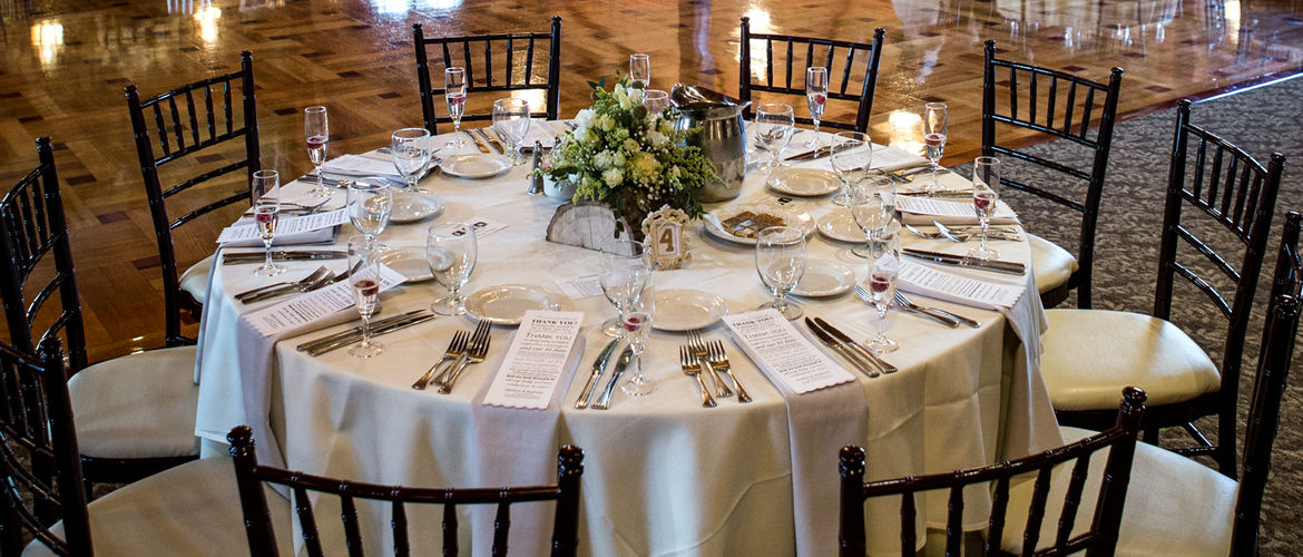 Table setting in the Ballroom