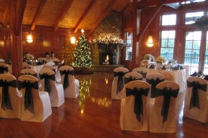 Wedding Ceremony in the Cypress Room at Tewksbury Country Club