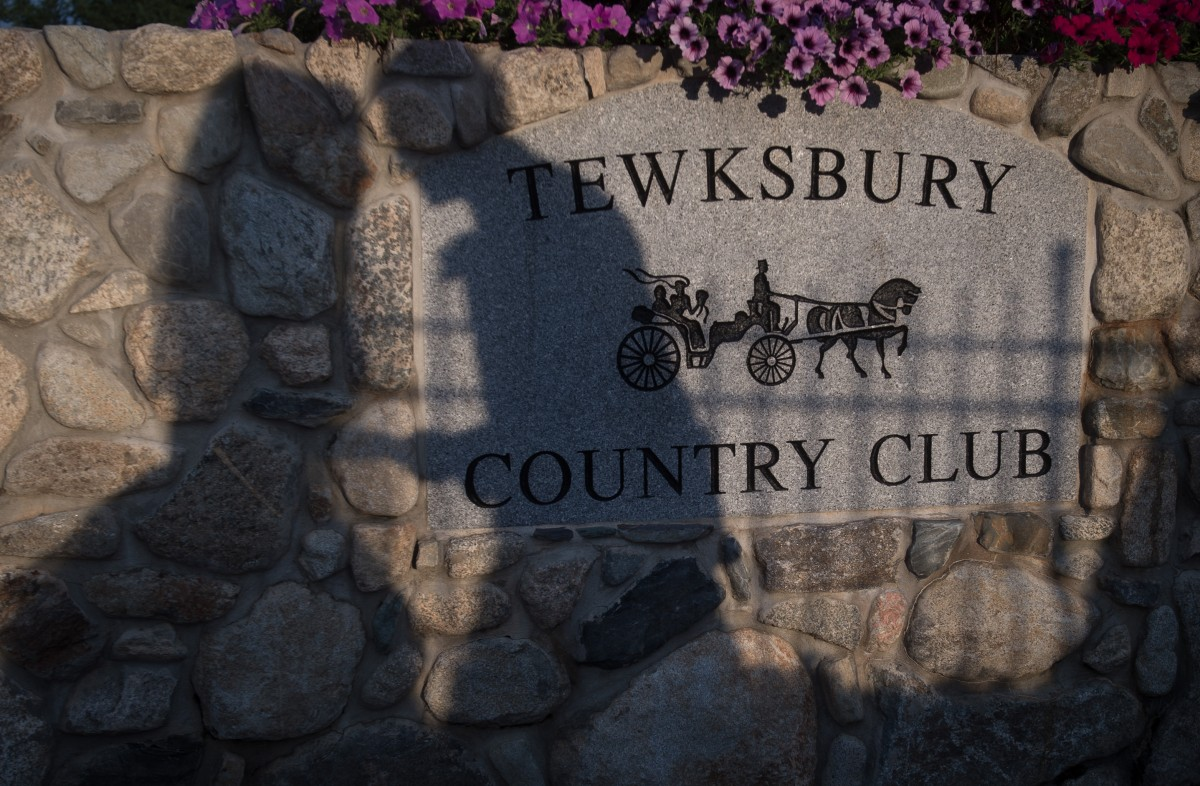 Bride and Groom at Tewksbury Country Club