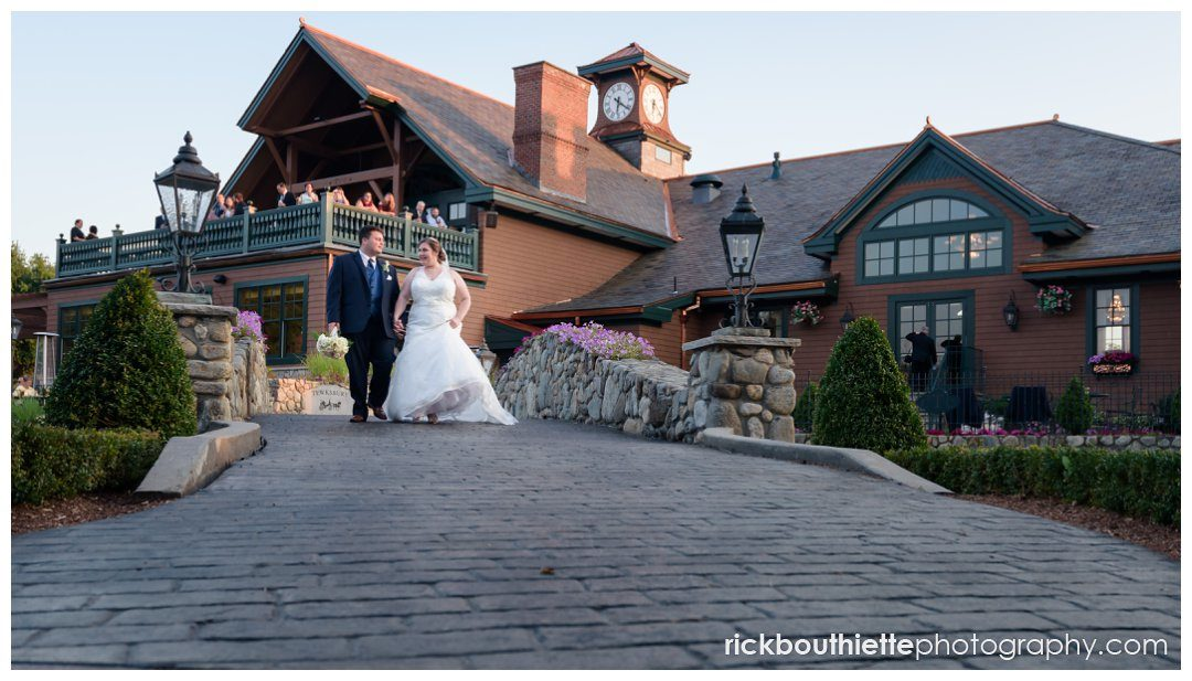 Early evening wedding at Tewksbury Country Club