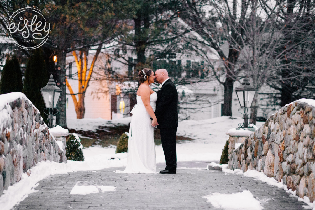 Romantic winter wedding at Tewksbury Country Club