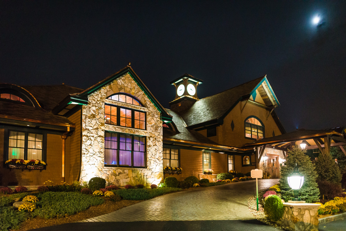 Front Entrance of Tewksbury Country Club at Night