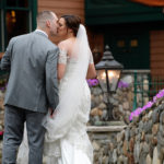 Bride & Groom at Tewksbury Country Club Summer Wedding