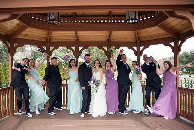 Wedding in the Gazebo at Tewksbury Country Club